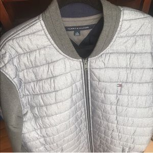 Tommy Hilfiger Silver And Grey Crew Puffer Jacket